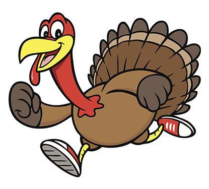 Turkey wearing sneakers graphic