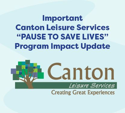 Important Message from Canton Leisure Services graphic
