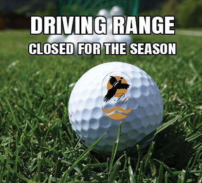 PRGC Driving Range Closed for the Season Spotlight Graphic